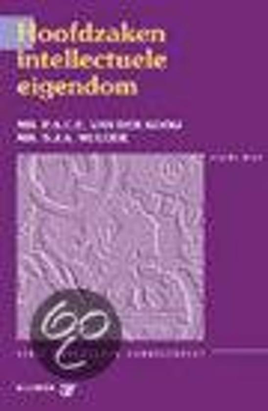 Boek cover Hoofdzaken intellectuele eigendom van P.A.C.E. van der Kooij (Paperback)