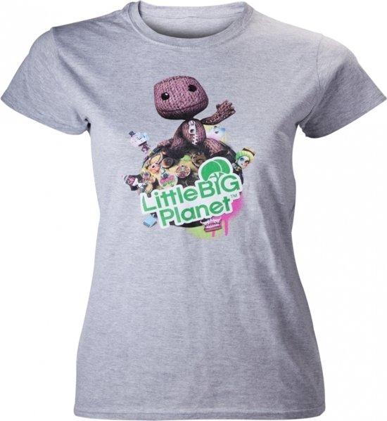 Little Big Planet - Size L - Melange Girl T-Shirt (Grijs)