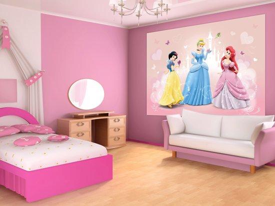 Fotobehang Disney Prinsessen | Roze | 312x219cm