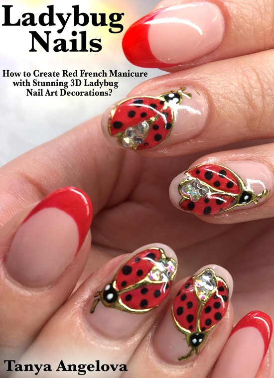 Bol Ladybug Nails How To Create Red French Manicure With