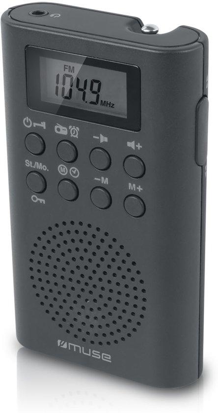 Muse M-02 R Persoonlijk Analoog & digitaal Zwart, Grijs radio