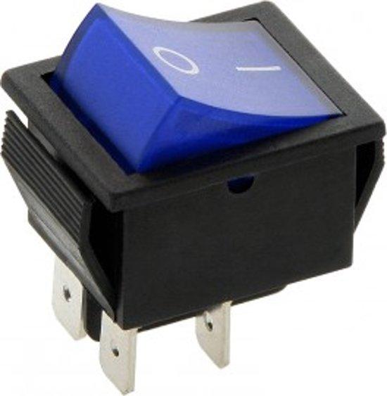 Schakelaar - blauw - 12 volt - 35A - verlicht