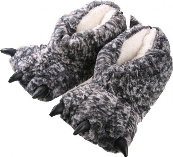 Dierenpoot sloffen grijze monsterpoten 39-40 - pantoffels