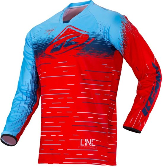 Kenny Crossshirt Performance Red Lines-L