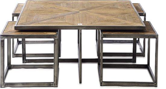 Riviera Maison Bijzettafeltjes.Riviera Maison Le Bar Americain Coffee Table Set 5