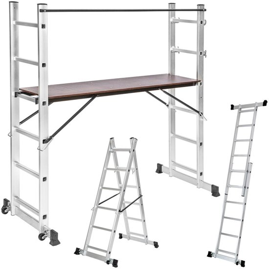 multifunctionele ladder steiger stelling, opvouwbaar 401668