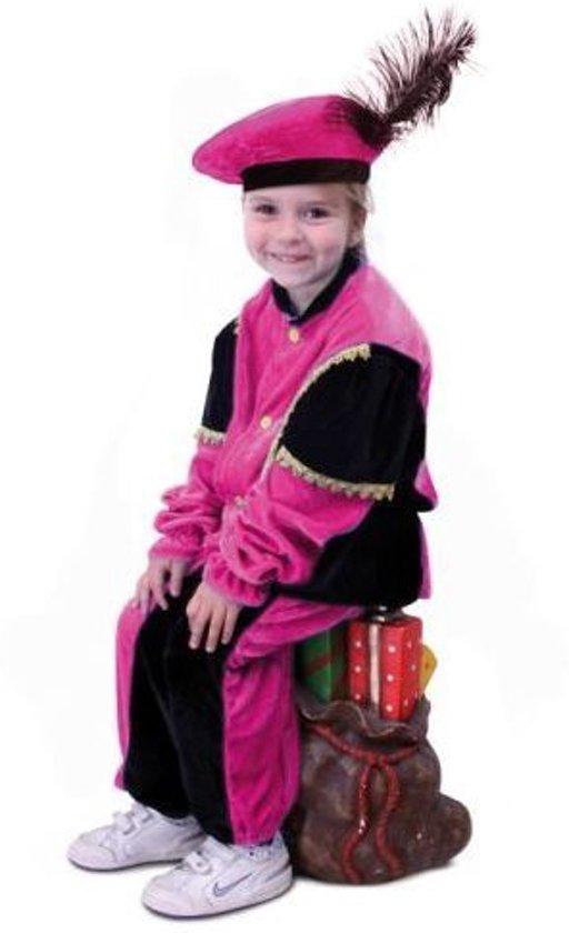 Piet pak roze-zwart kind mt.116