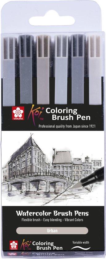 Koi Coloring Brush Pen 6 grijstinten