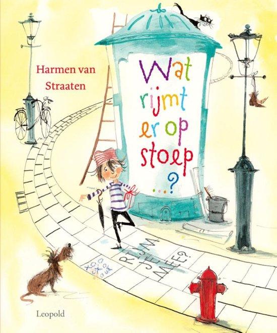 Boek cover Wat rijmt er op stoep? van Harmen van Straaten (Hardcover)