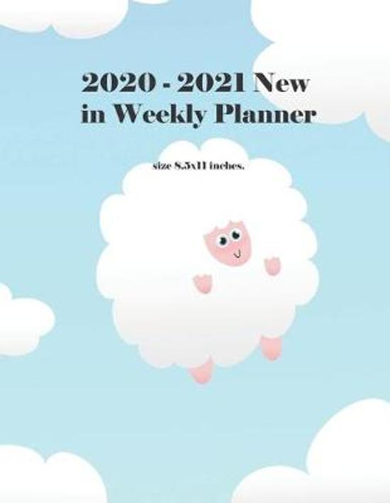 2020-2021 New in Weekly Planner: Cute Sheep-Shaped Cloud Cover, 2 Year academic with Holidays and Observances Calendar for Daily, Weekly, Monthly and