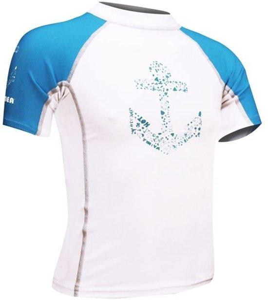 Waimea UV Shirt Jongens Wit Blauw Maat 128