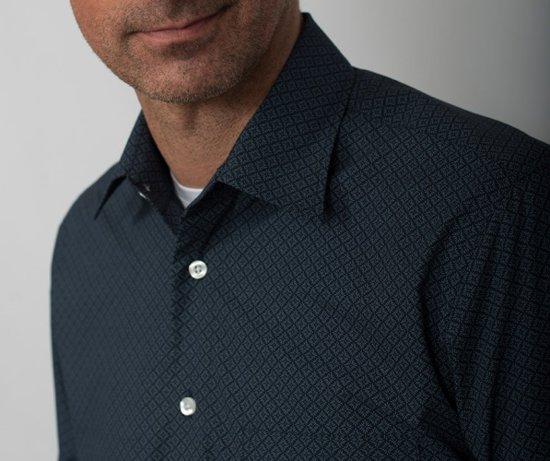 Donkerblauw Heren Overhemd.Bol Com Gcm Heren Blouse Overhemd Donkerblauw Print Maat M