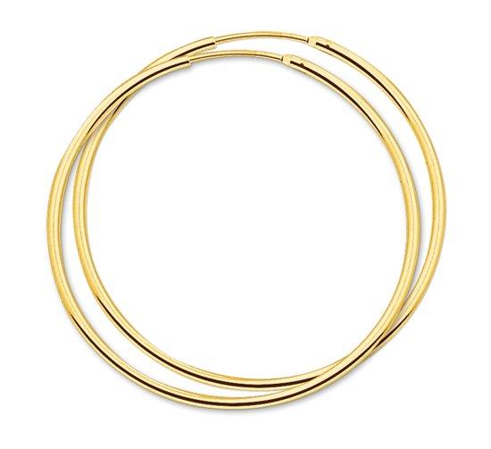 The Jewelry Collection oorringen Ronde Buis - Goud (14 Krt.) - 44 mm