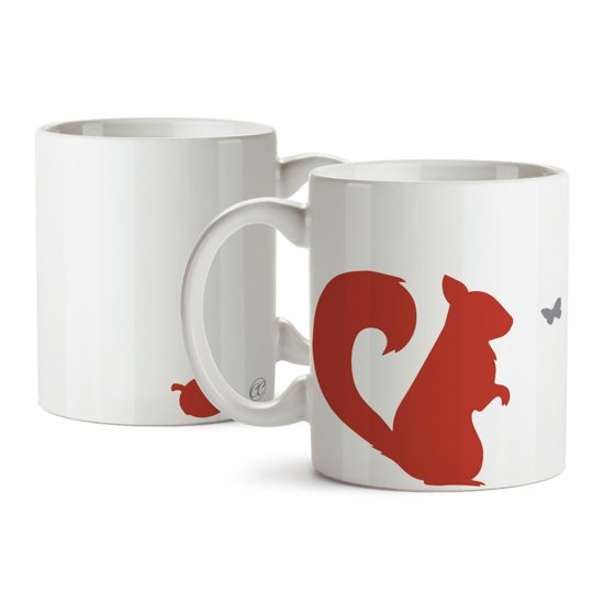 Giggle Beaver Creature Comforts Sneaky Squirrel - Beker - Wit/Rood