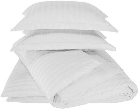 De Witte Lietaer  Zygo  –  dekbedovertrek -  tweepersoons dekbedovertrek 260x220 cm & twee kussenslopen 60x70 cm –  white