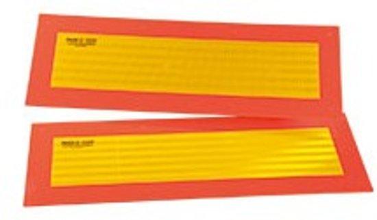 Achterzijdemarkering voor aanhangers en opleggers, 570 x 197 mm, 2/VE