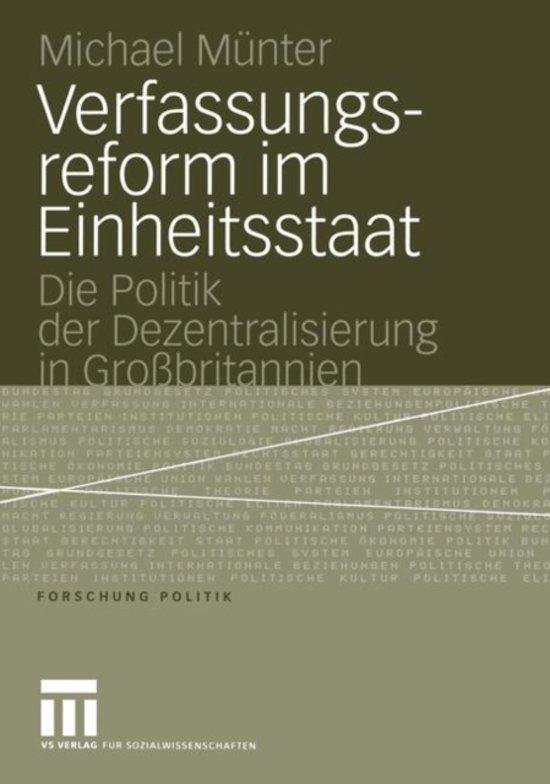 Verfassungsreform im Einheitsstaat