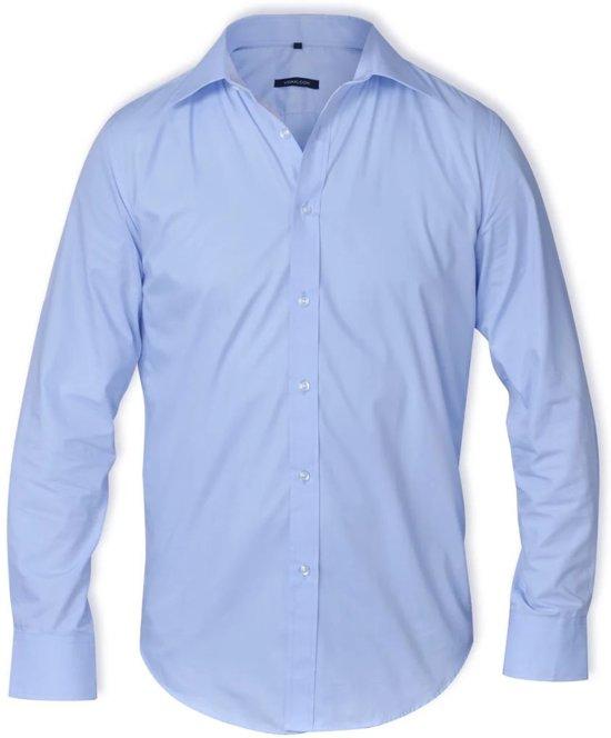 Maat Overhemd Heren.Bol Com Overhemd Heren Maat S Lichtblauw