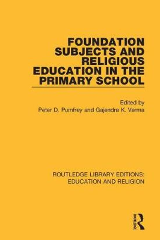 Foundation Subjects and Religious Education in the Primary School