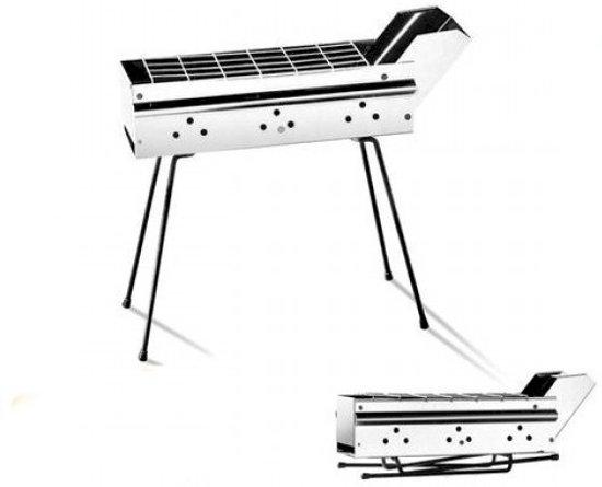 Satemaker Model Z Houtskoolbarbecue - 50 cm - RVS