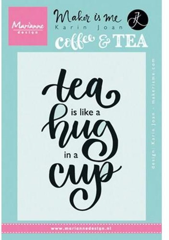 Bolcom Marianne Design Stempel Quote Tea Is Like A Hug In A Cup