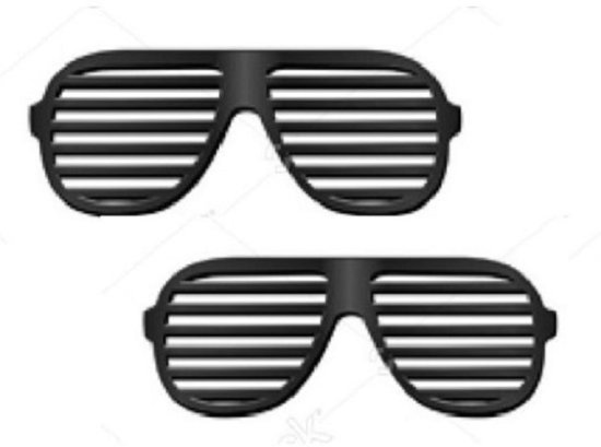 2021410b8c9800 Shutter shade bril zwart 2x