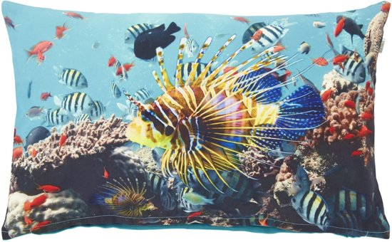 Dutch Decor Kussenhoes Balnade 30x50 cm aqua