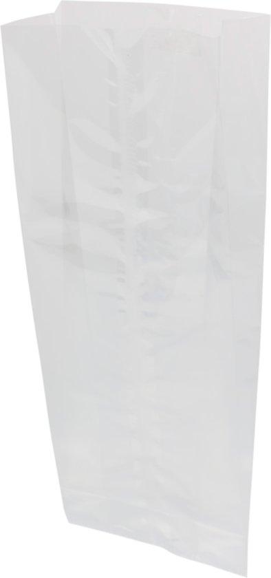 Zak, Zijvouwzak, PP, 10x25cm, 30my, transparant, 25 stuks