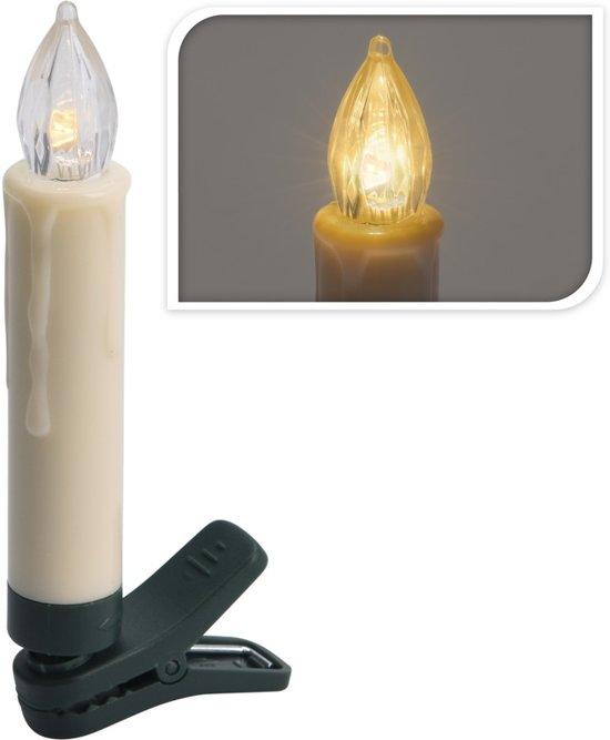Led Kerstboomverlichting Draadloos.Draadloze Kaarsen Verlichting Op Clip Warm Wit 20 Lampjes