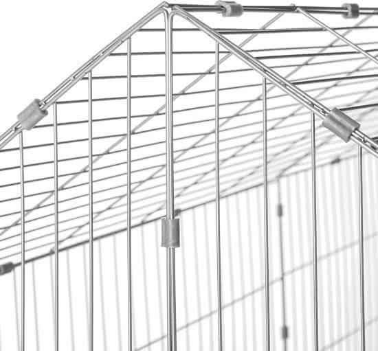 Maxx - Konijnenren - Konijnenhok met zonnescherm blauw 220x85x103cm