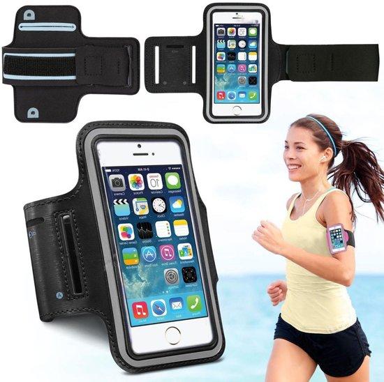 Sport / Hardloop Armband Hoesje  Spatwaterdicht – Zwart Sportband – Geschikt voor iphone 7 Sport Armband Met Sleutelhouder