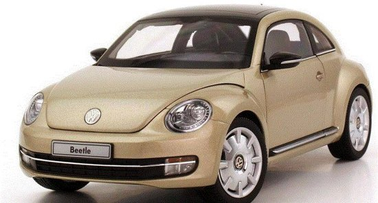 Volkswagen The Beetle Coupe 1:18 Kyosho Champagne 08811MS