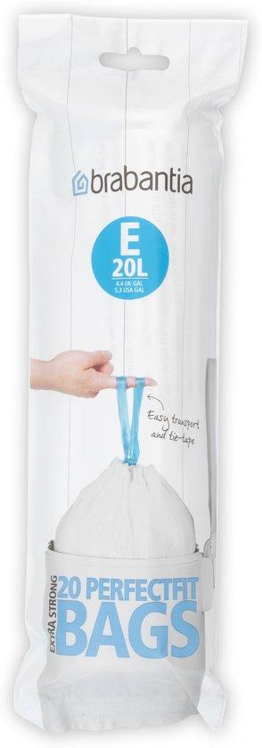 Brabantia Afvalzak Code E - 20 Liter Laag Model (20 stuks)