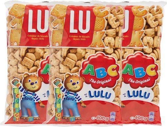 Lulu Nicnac letterkoekjes - 400gr - 3 stuks