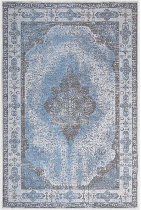 fab30f6b7c50b8 Brinker Vintage Vloerkleed Lowla 130x230 - Blauw Grijs