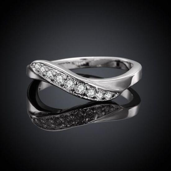 Ring zilver met witte zirkoon stenen