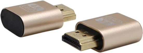 HDMI Dummy Plug 1.4 DDC EDID 4K Display Emulator Virtual Display Adapter - zilver