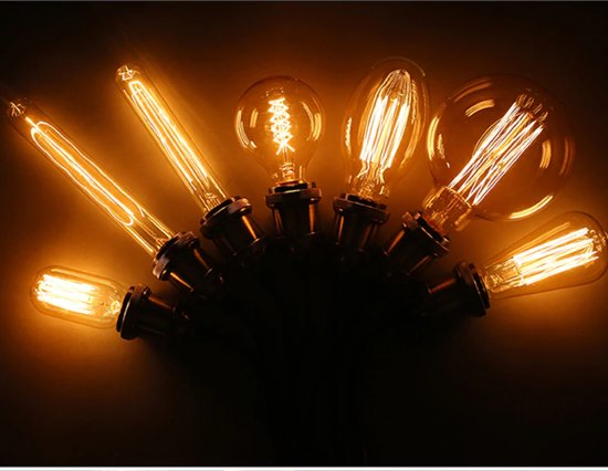 Royal Home® - Vintage Edison Verlichting - T45 - Spiraal - Set van 2 - Gloeilamp - Gloeilampen - Sfeer Verlichting