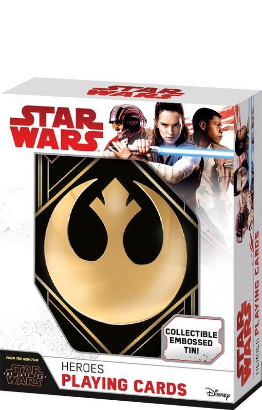 Afbeelding van het spel Star Wars Episode 8: The last Jedi - Heroes in Tin box - Speelkaarten