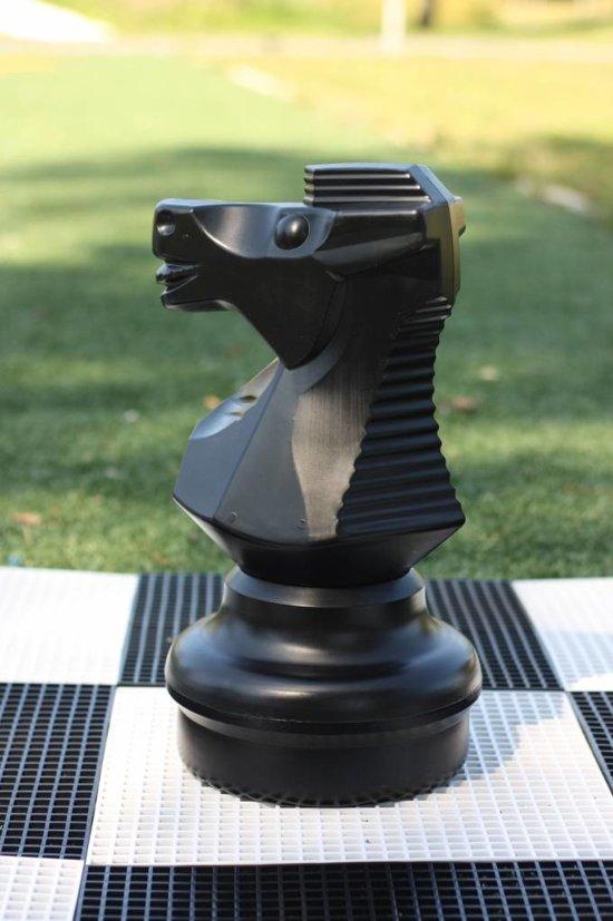Schaakstuk, Paard 45 cm,-Wit
