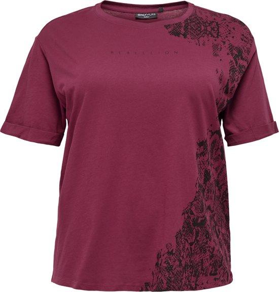 Only Play Gemini Loose Shirt Dames Sporttop - Beet Red - Maat M