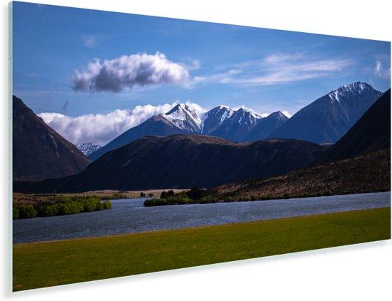Bergen in het Nationaal park Arthur's Pass op het Zuidereiland Plexiglas 80x40 cm - Foto print op Glas (Plexiglas wanddecoratie)