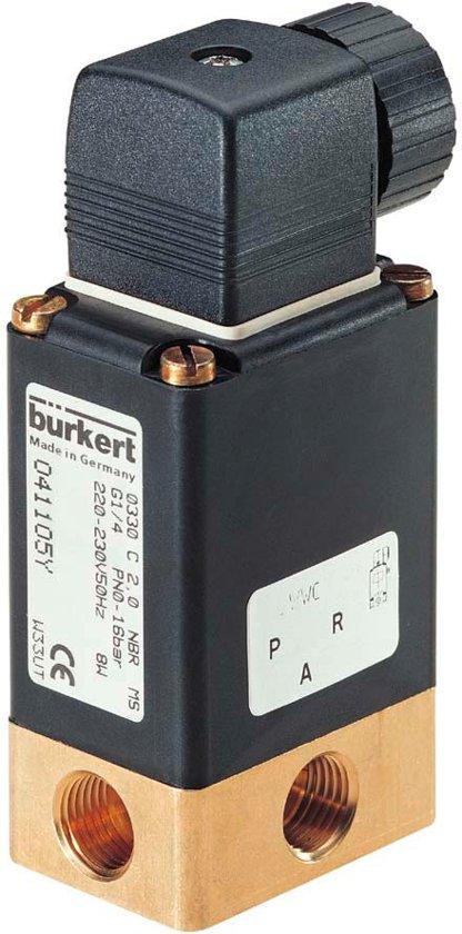 3/2 NO G1/4'' Messing 230VAC Magneetventiel 0330 47390 - 47390