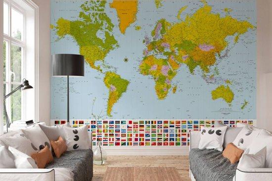 Behang Babykamer Utrecht : Bol w g behang wereldkaart delig fotobehang cm