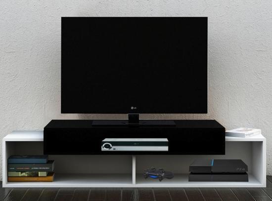 Modern Tv Meubel Zwart.Bol Com Modern Tv Meubel Tv Kast Monaco Wit Zwart