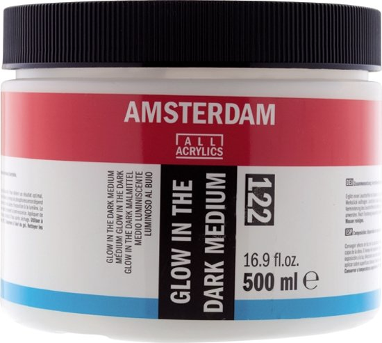 Amsterdam schildermedium flacon 500 ml - glow in the dark