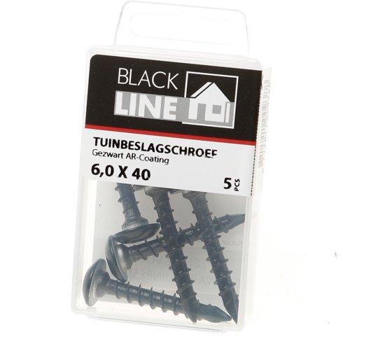 Hoenderdaal Tuinbeslagschroef zwart TX30 Verpakt per 5 Stuks