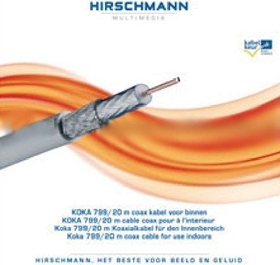 Hirschmann - Coax Kabel - op rol - wit - 20 meter 799