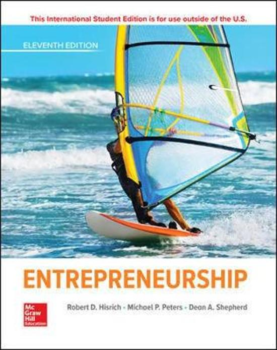 Boek cover Entrepreneurship van Robert Hisrich (Paperback)