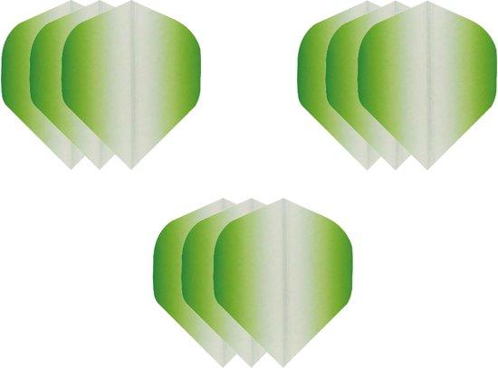 Dragon darts - Super Sterke Fade Side Groen - flights – 3 sets - dart flights - darts flights